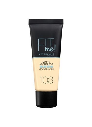 Maybelline Maybelline 103 Pure Ivory Fit Me Matte+Poreless Fondöten Ten